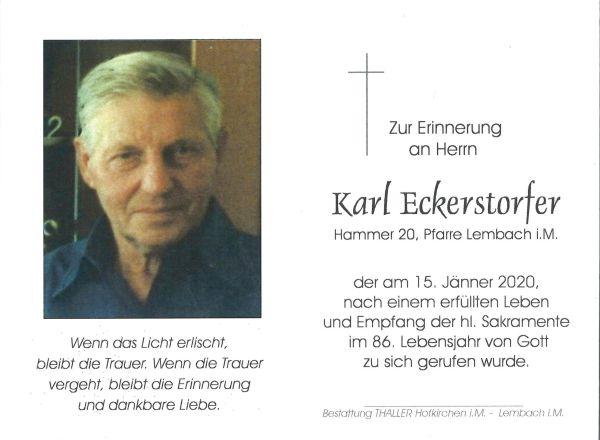 Sterbbild innen Eckerstorfer Karl