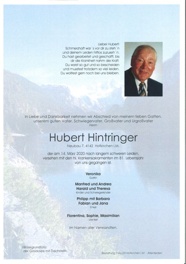 Parte Hintringer Hubert