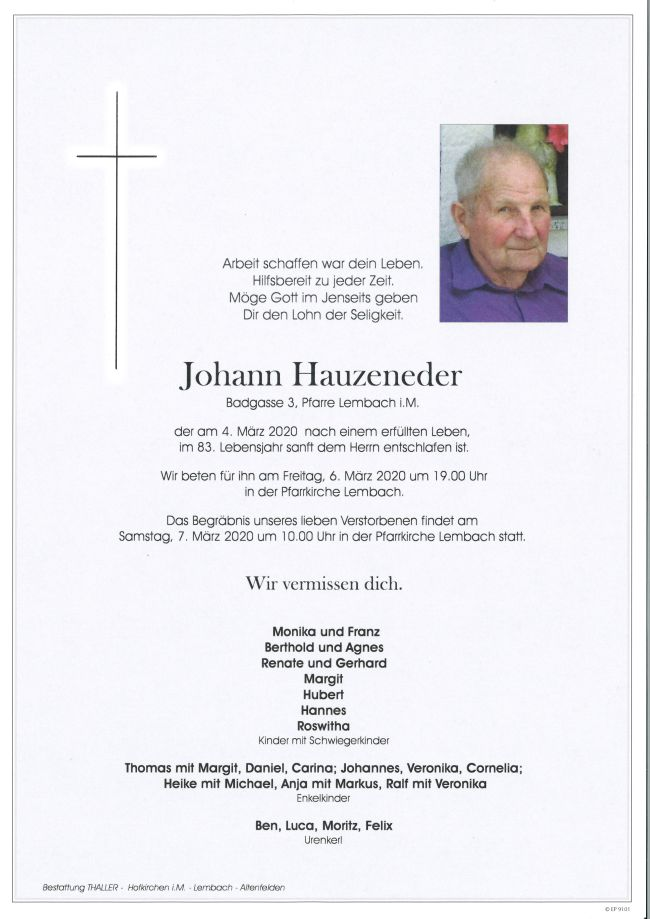 Parten Hauzeneder Johann