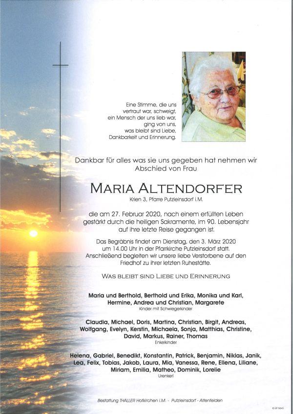 Parte Altendorfer Maria