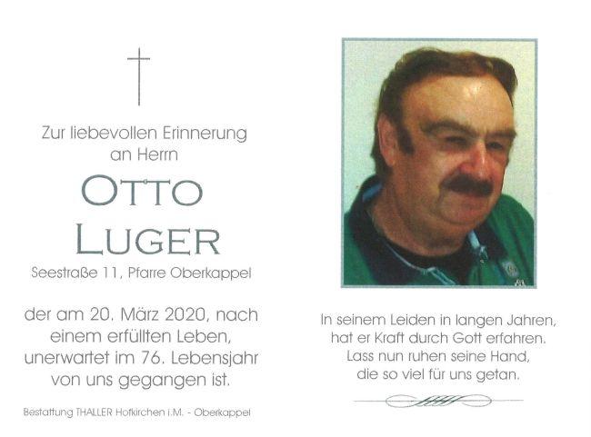 Sterbebild Luger Otto