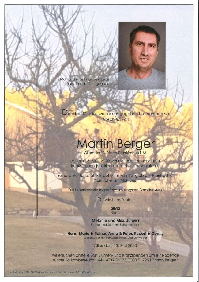 Parte Berger Martin
