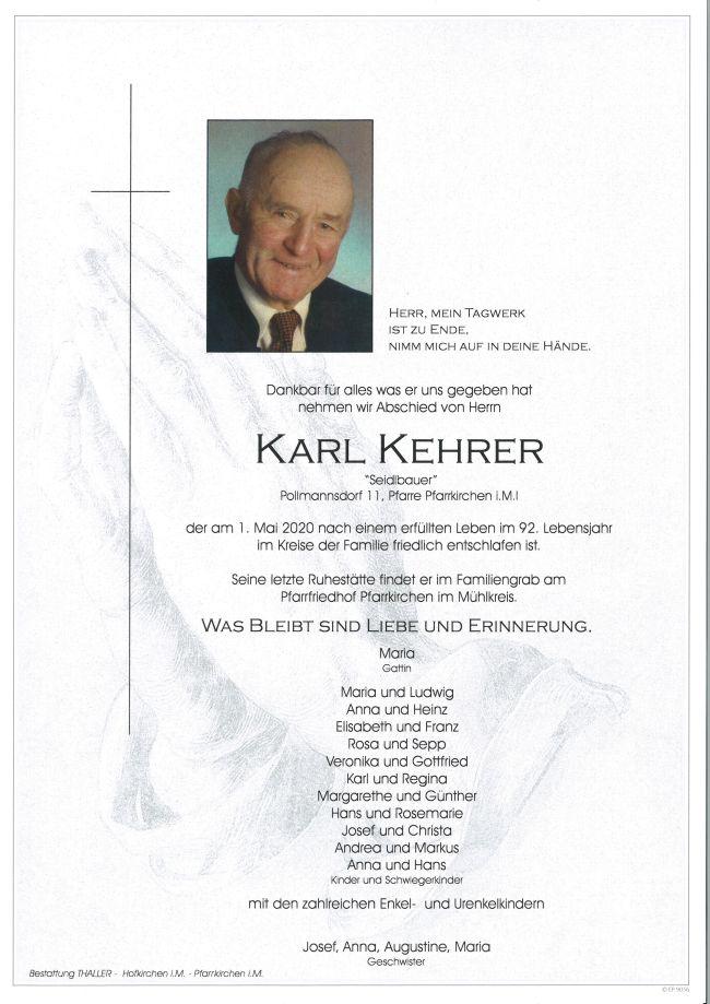 Parte Kehrer Karl