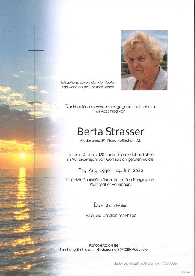 Parte Strasser Berta