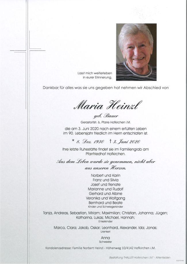 Parte Heinzl Maria
