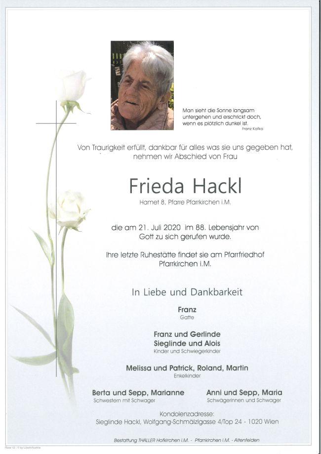 Parte Hackl Frieda