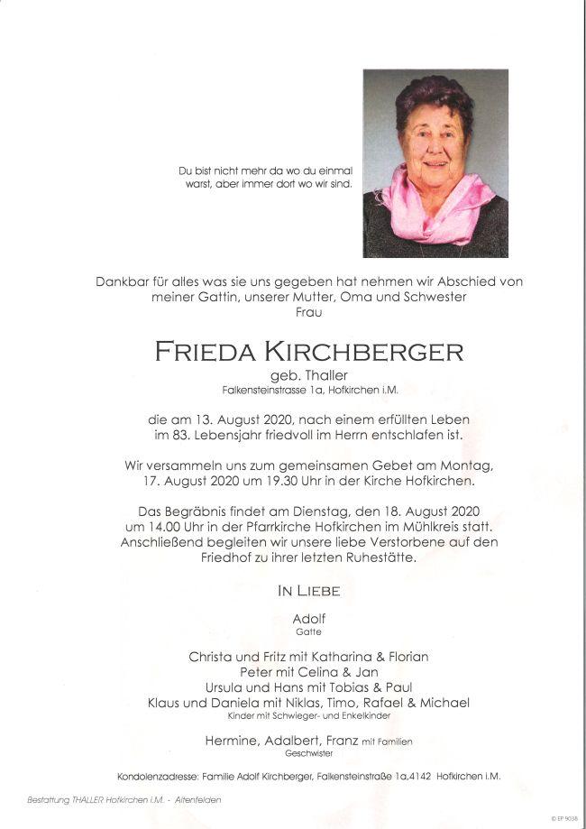 Parte Kirchberger Frieda