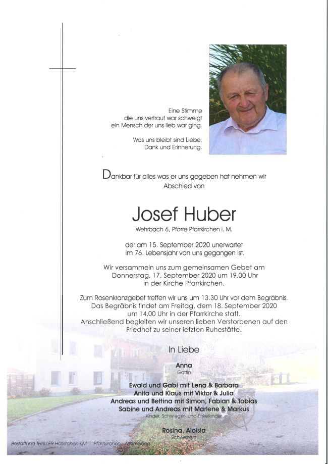 Parte Huber Josef