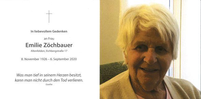 Sterbebild Zöchbauer Emilie