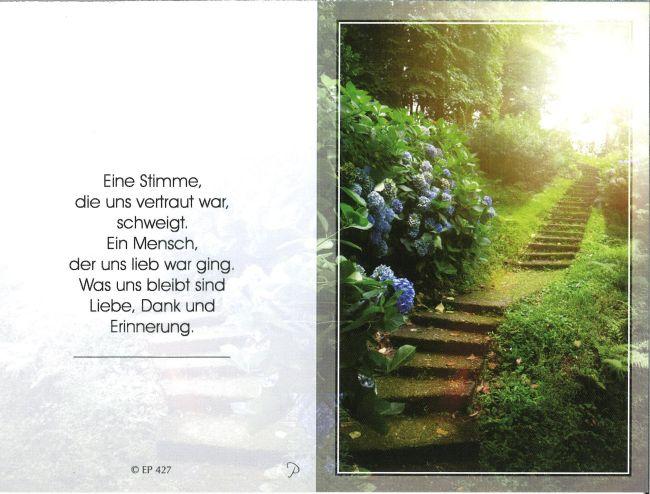 Sterbebild außen Baumgartner Elfriede