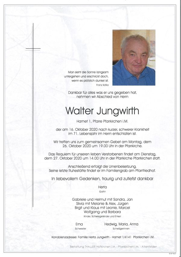 Parte Jungwirth Walter