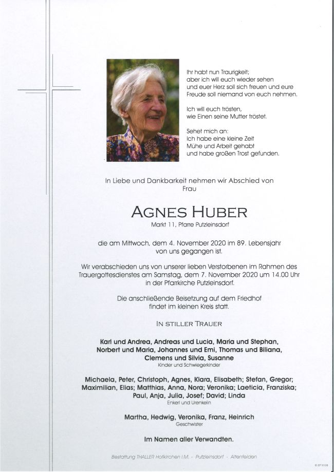 Parte Huber Agnes