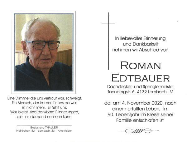 Sterbebild innen Edtbauer Roman