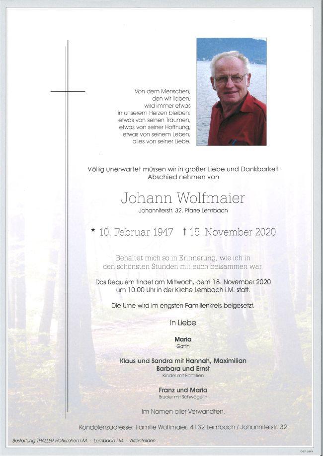 Parte Wolfmaier Johann