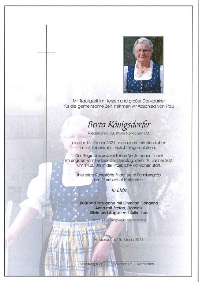 Parte Königsdorfer Berta