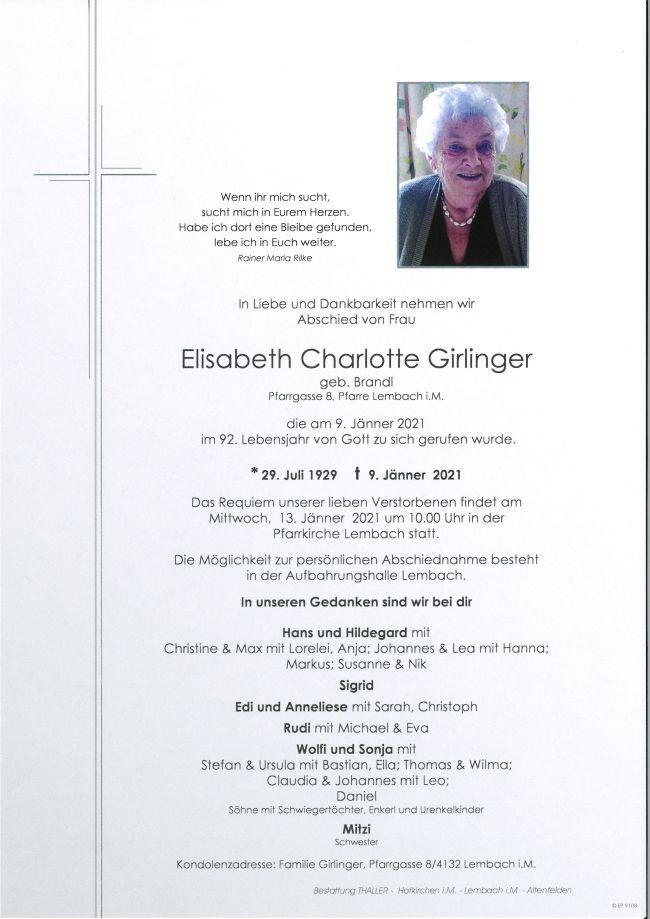 Parte Girlinger Elisabeth Charlotte