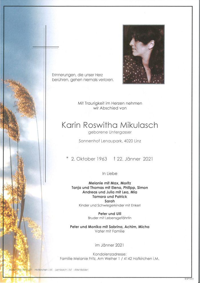 Parte Mikulasch Karin Roswitha