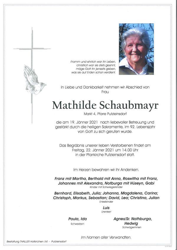 Parte Schaubmayr Mathilde