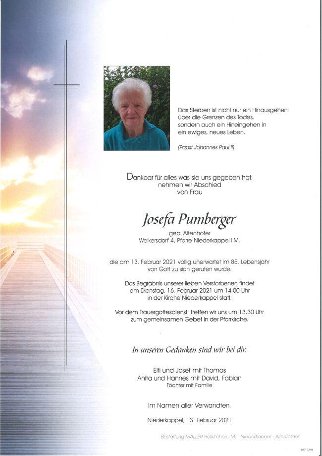 Parte Pumberger Josefa