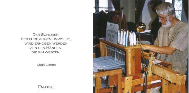 Sterbebild außen Reuter Gottfried