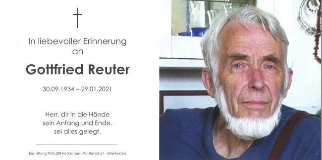 Sterbebild Reuter Gottfried