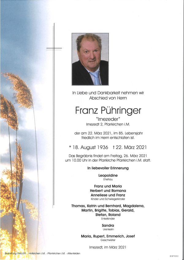 Parte Pühringer Franz