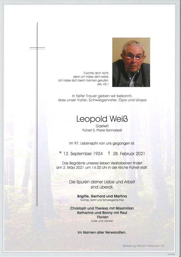 Parte Weiß Leopold