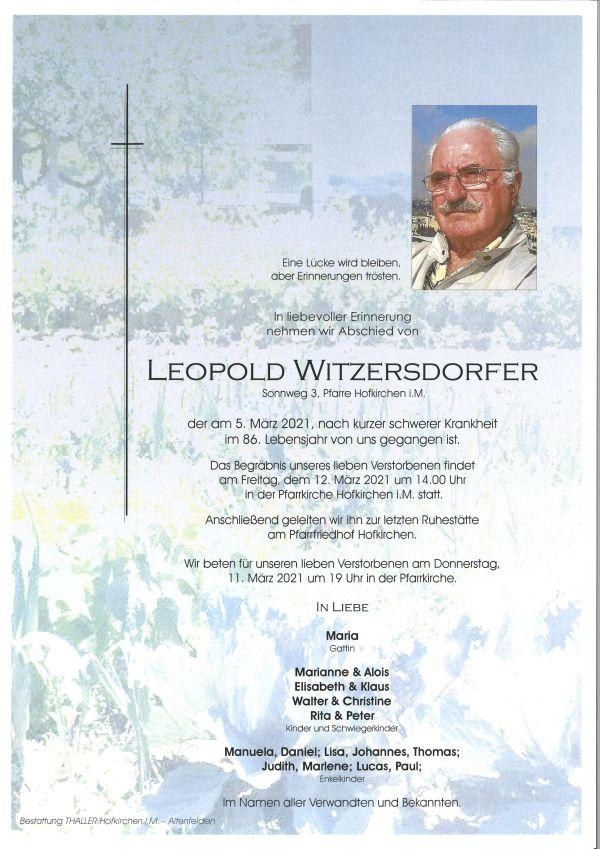 Parte Witzersdorfer Leopold