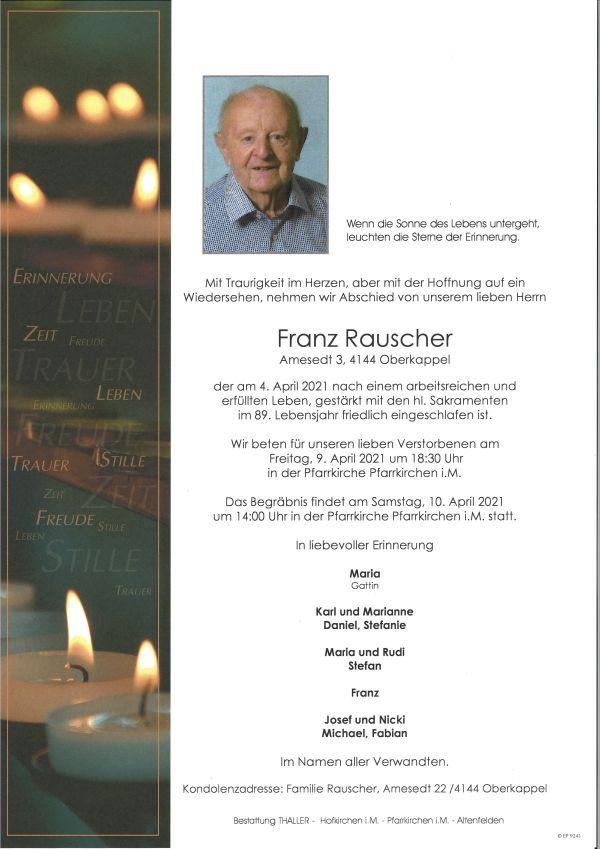 Parte Rauscher Franz