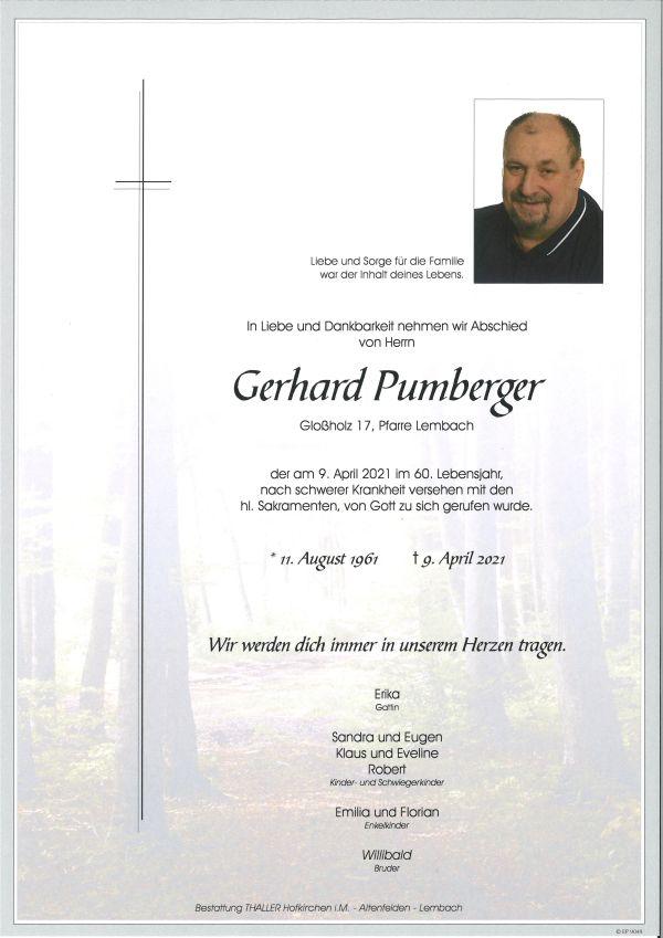 Parte Pumberger Gerhard