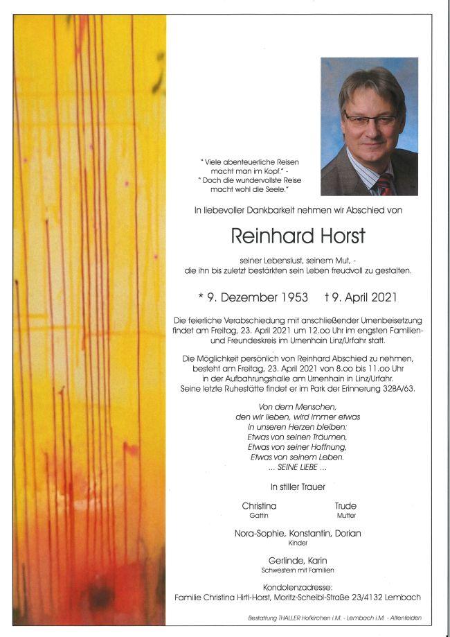 Parte Dipl.-Ing Dr. techn. Horst Reinhard
