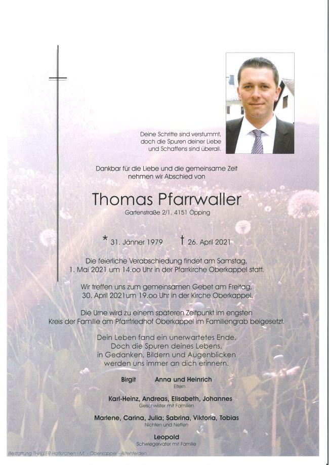 Parte Pfarrwaller Thomas