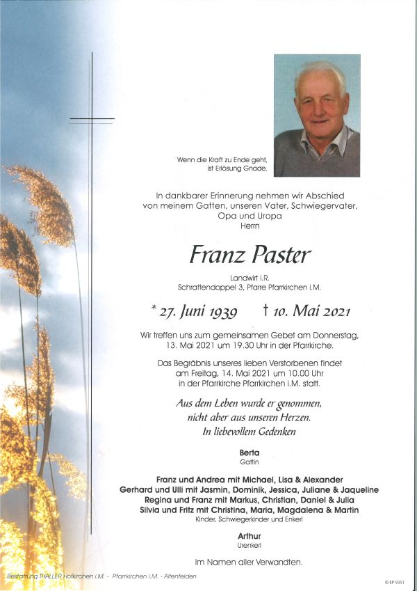 Parte Paster Franz