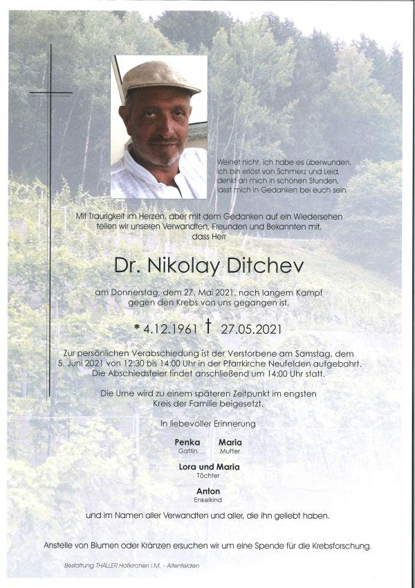 Parte Dr. Nikolay Dtichev