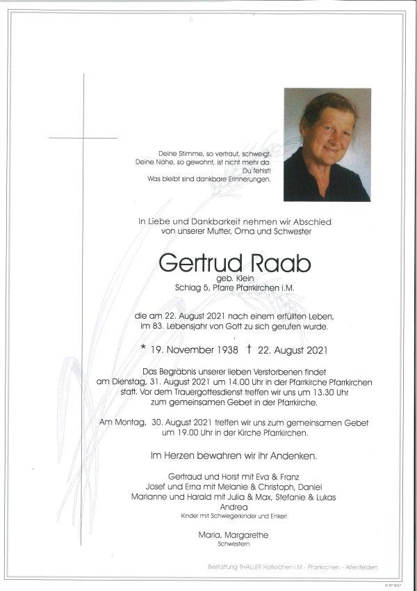 Parte Raab Gertrud