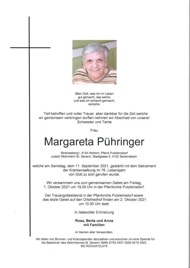 Parte Pühringer Margareta