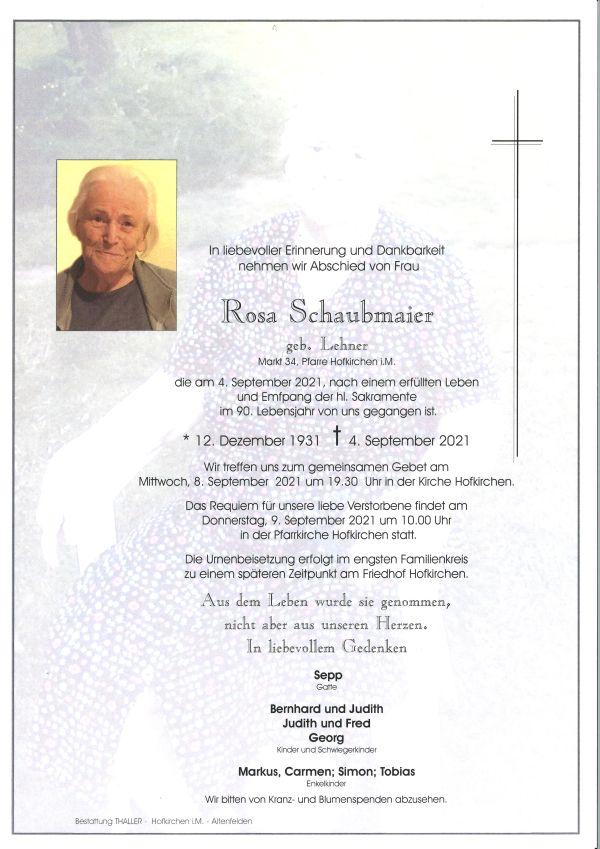 Parte Schaubmaier Rosa