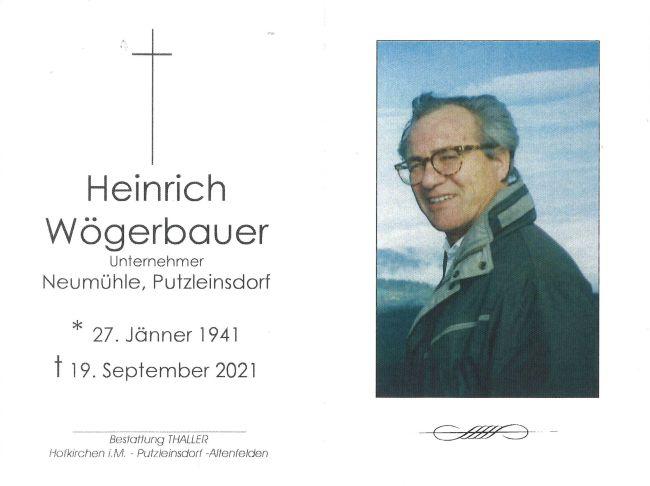 Sterbebild Wögerbauer Heinrich